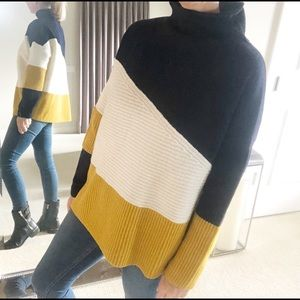 French Connection Funnel Neck Sweater M